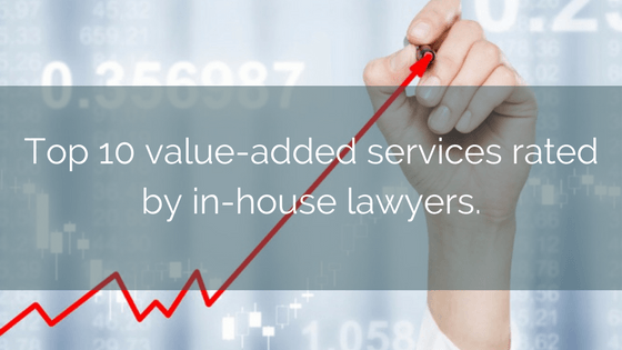 Top 10 Value-added Services Rated By In-house Lawyers