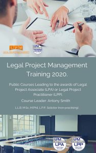 Legal Project Management Training Course 2020 Prospectus
